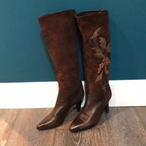Italian suede leather boots